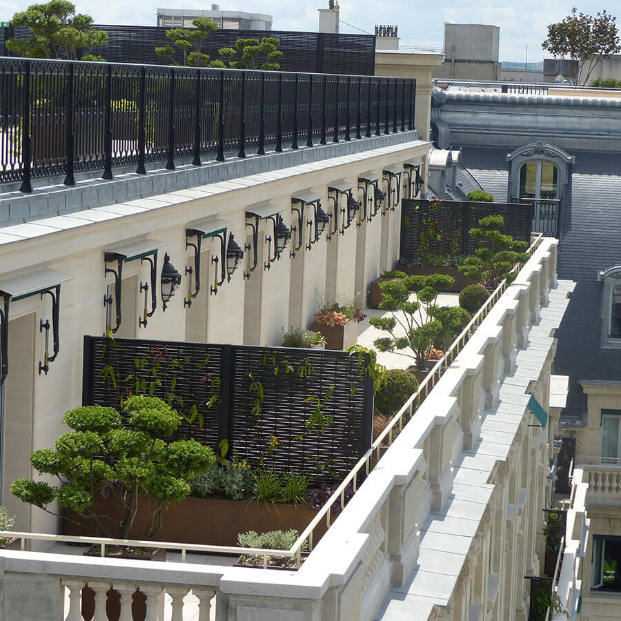 Amenagement balcon paris photos de conception de maison - Terrasse et jardin fleuri paris ...