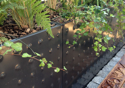 Bac inox granit et bois