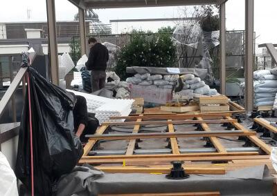 Terrasse en travaux