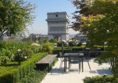 Jardin en terrasse, avec vue exceptionnelle
