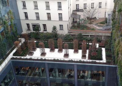 Les différents niveaux de l'immeuble