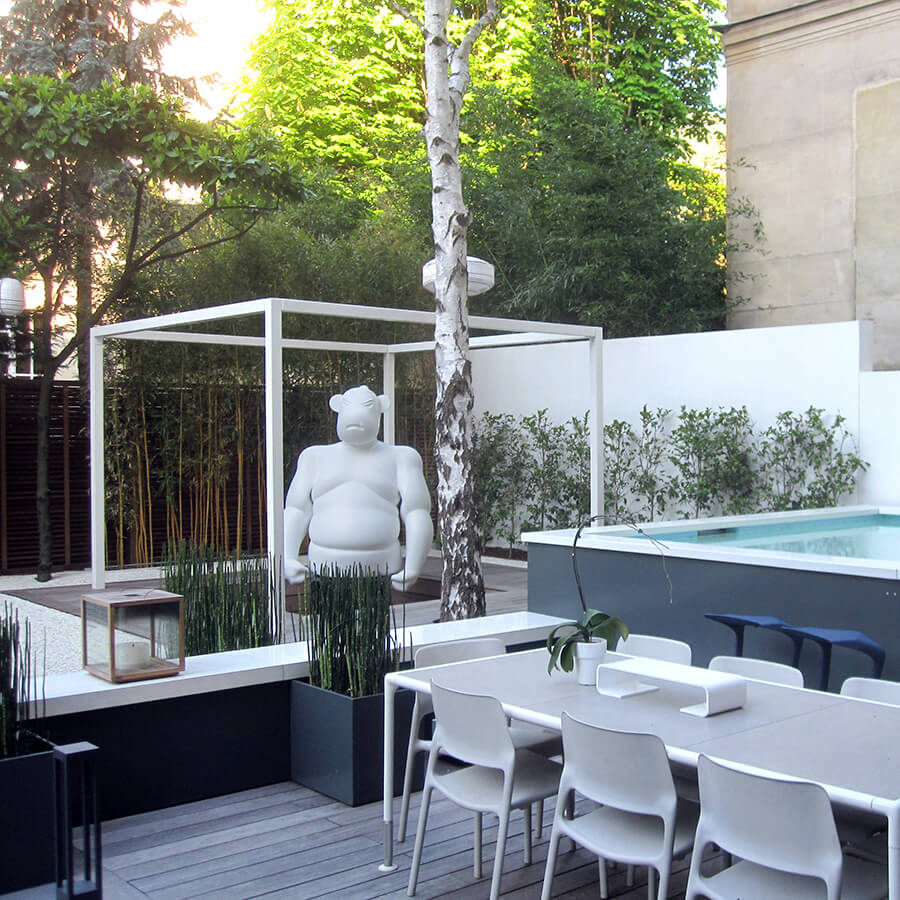 un jardin zen en plein c ur de neuilly. Black Bedroom Furniture Sets. Home Design Ideas