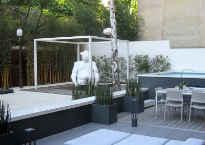 un jardin zen en plein c ur de neuilly jardins de l 39 orangerie. Black Bedroom Furniture Sets. Home Design Ideas