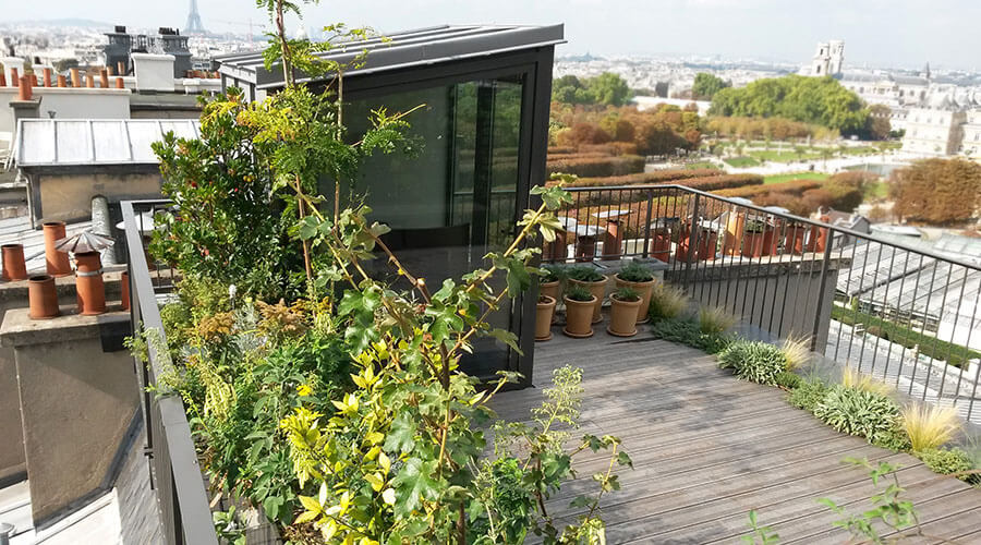 Am nagement d une terrasse sur les toits - Amenagement d une terrasse ...