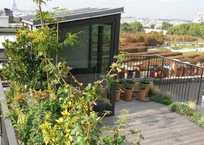 Aménagement d'une terrasse sur les toits
