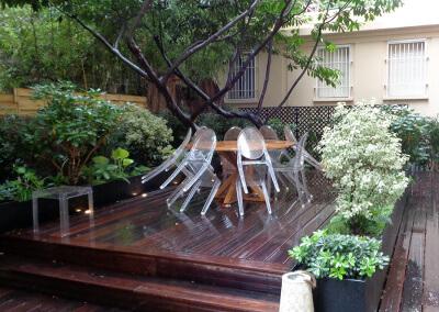 Terrasse en frêne