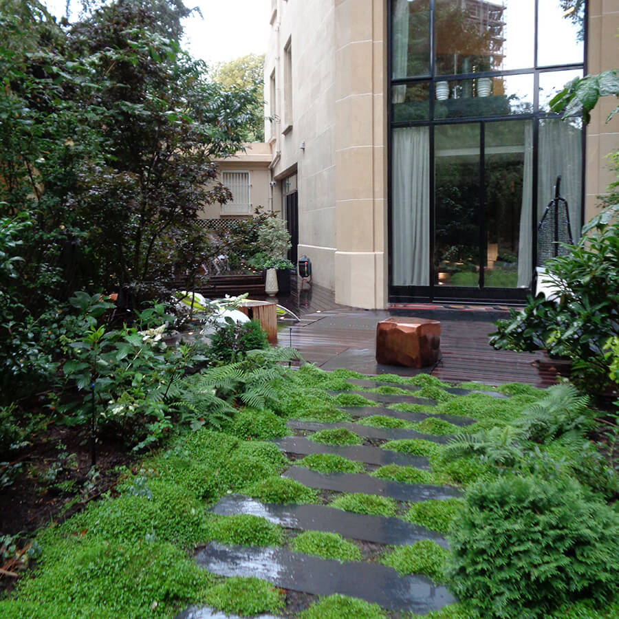 Cr ation d un jardin d ombre paris jardins de l 39 orangerie for Amenagement jardin ombre