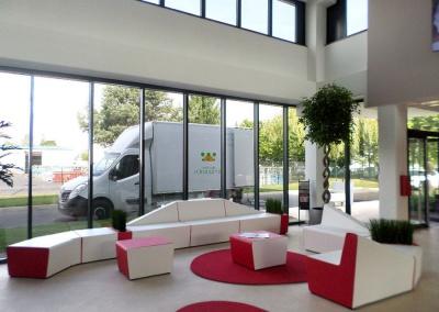 Aménagement végétal d'un showroom et bureau à Fleury-Mérogis