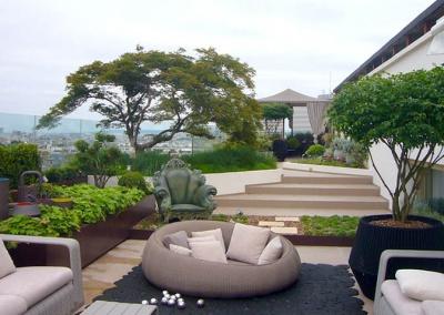 Aménagement des terrasses d'un appartement en triplex