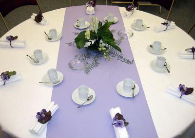 Centre de table et ronds de serviettes