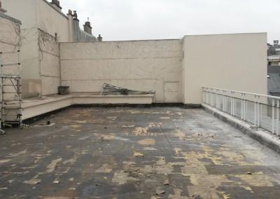 La terrasse en préparation