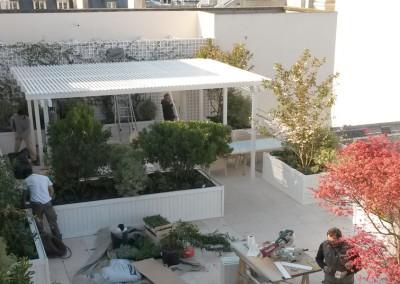 Aménagement de la terrasse d'une suite à Paris
