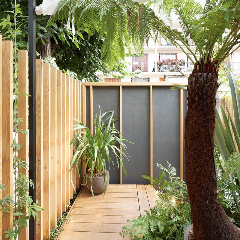 Cr ation d un petit jardin de 35 m2 for Cloison exterieure jardin